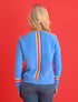 Women's Reverse Stripe Sweatshirt - Marina Blue