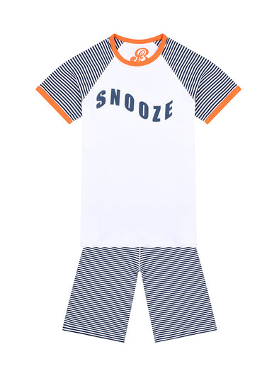 Boys PJs - Snooze - Optic White/Dress Blue