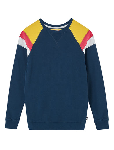 Panel Sweatshirt - Dress Blue