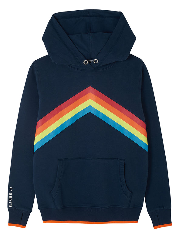 Rainbow Hoodie - Dress Blue