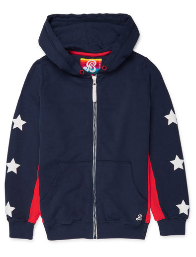 Zip-Up Hoodie - Dress Blue