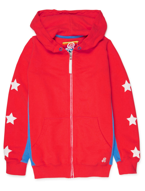 Zip-Up Hoodie - Poppy Red