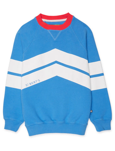Chevron Sweatshirt - Marina Blue