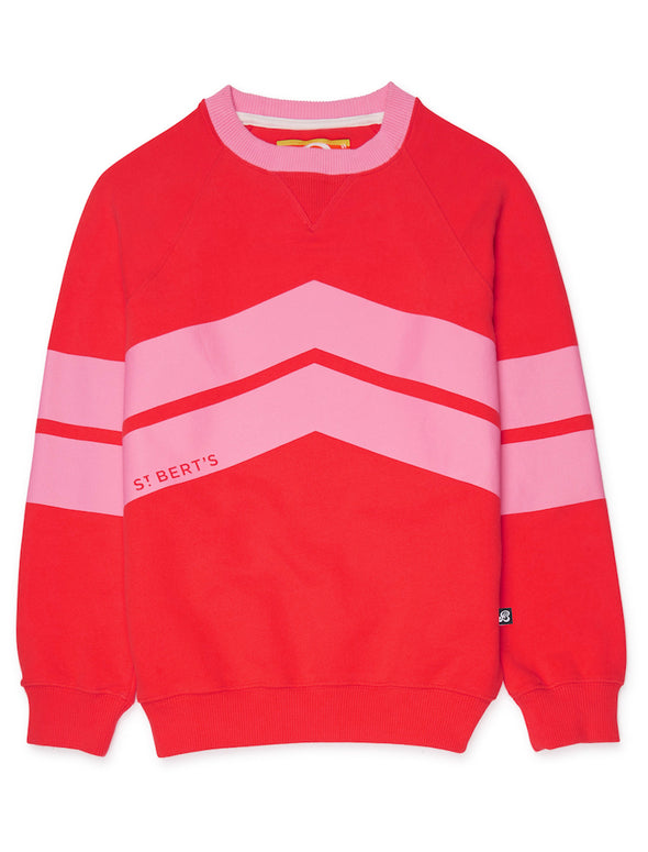 Chevron Sweatshirt - Poppy Red