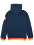 Pullover Sherpa Hoodie - Dress Blue/Poppy Red