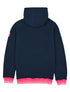 Pullover Sherpa Hoodie - Dress Blue/Neon Pink