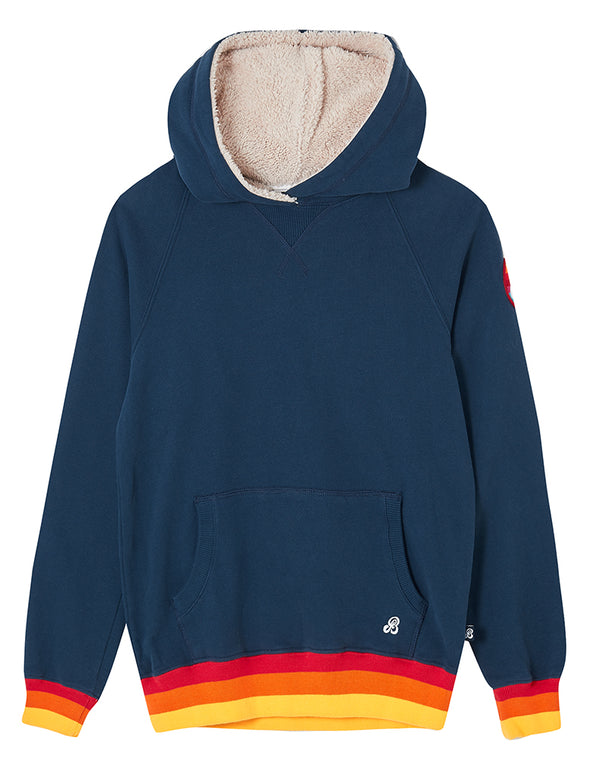 Pullover Sherpa Hoodie - Dress Blue