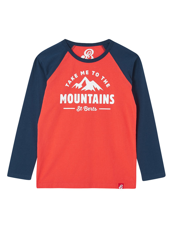 T-Shirt Take Me to the Mountains - Poppy Red