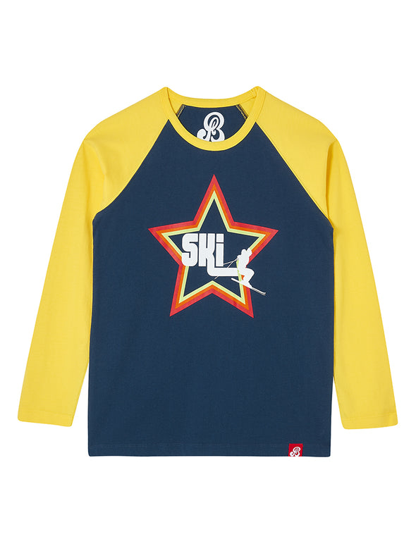 T-Shirt Ski Star - Dress Blue