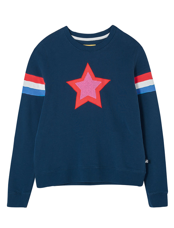 Women's Star Sweatshirt - Dress Blue