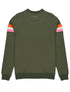 Women's Double Star Sweatshirt - Khaki Green