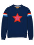 Women's Double Star Sweatshirt - Twilight Blue