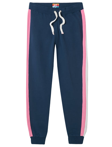 Women's Sweatpants - Blue/Pink/White