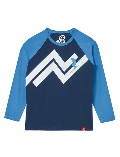 T-Shirt Slope Skier - Dress Blue