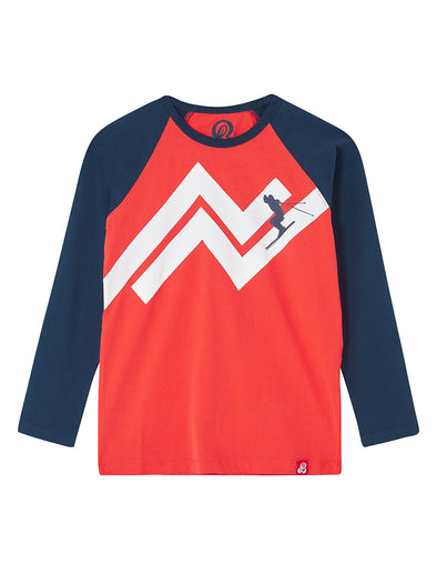 T-Shirt Slope Skier - Poppy Red