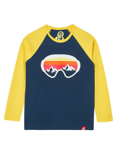 T-Shirt Ski Goggles - Blue/Yellow