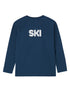 T-Shirt Ski Faster - Dress Blue