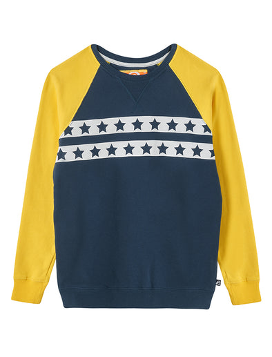 Star Stripe Sweatshirt - Dress Blue
