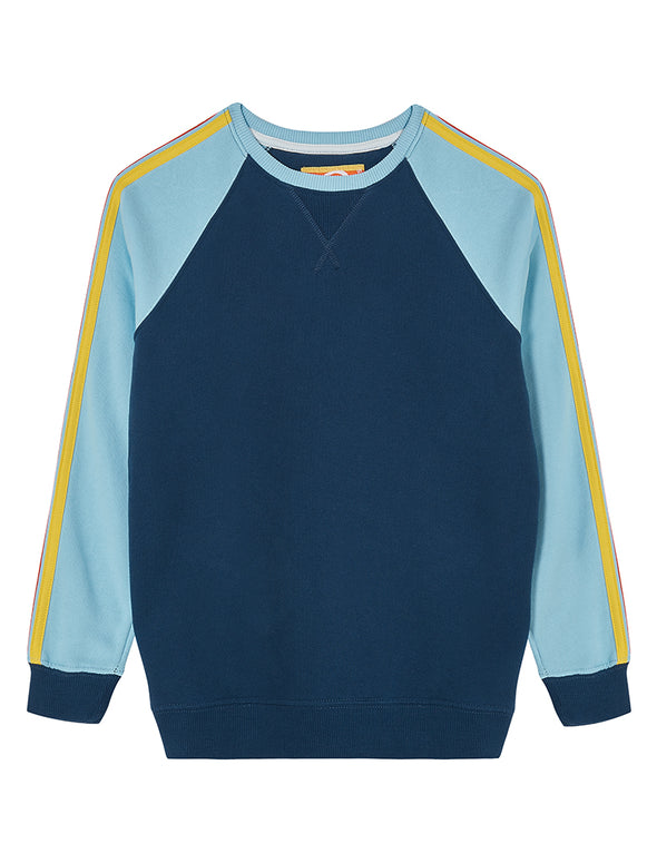 Arm Stripe Kids Sweatshirt - Dress Blue