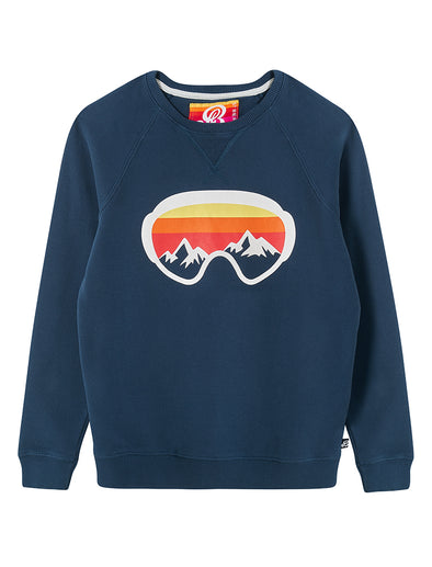 Ski Goggles Sweatshirt - Blue/Red