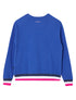 Women's Striped Ribbing Sweatshirt - Dazzling Blue