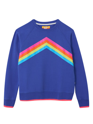 Women's Rainbow Sweatshirt - Dazzling Blue