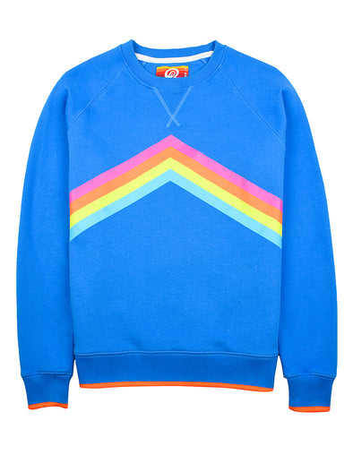 Women's Rainbow Sweatshirt - Marina Blue DUE IN END OF OCTOBER