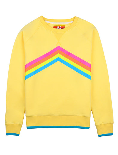Women's Rainbow Sweatshirt - Pale Banana