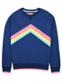 Women's Rainbow Sweatshirt - Twilight Blue