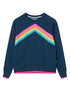 Women's Rainbow Sweatshirt - Dress Blue