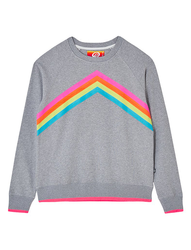 Women's Rainbow Sweatshirt - Nimbus Grey