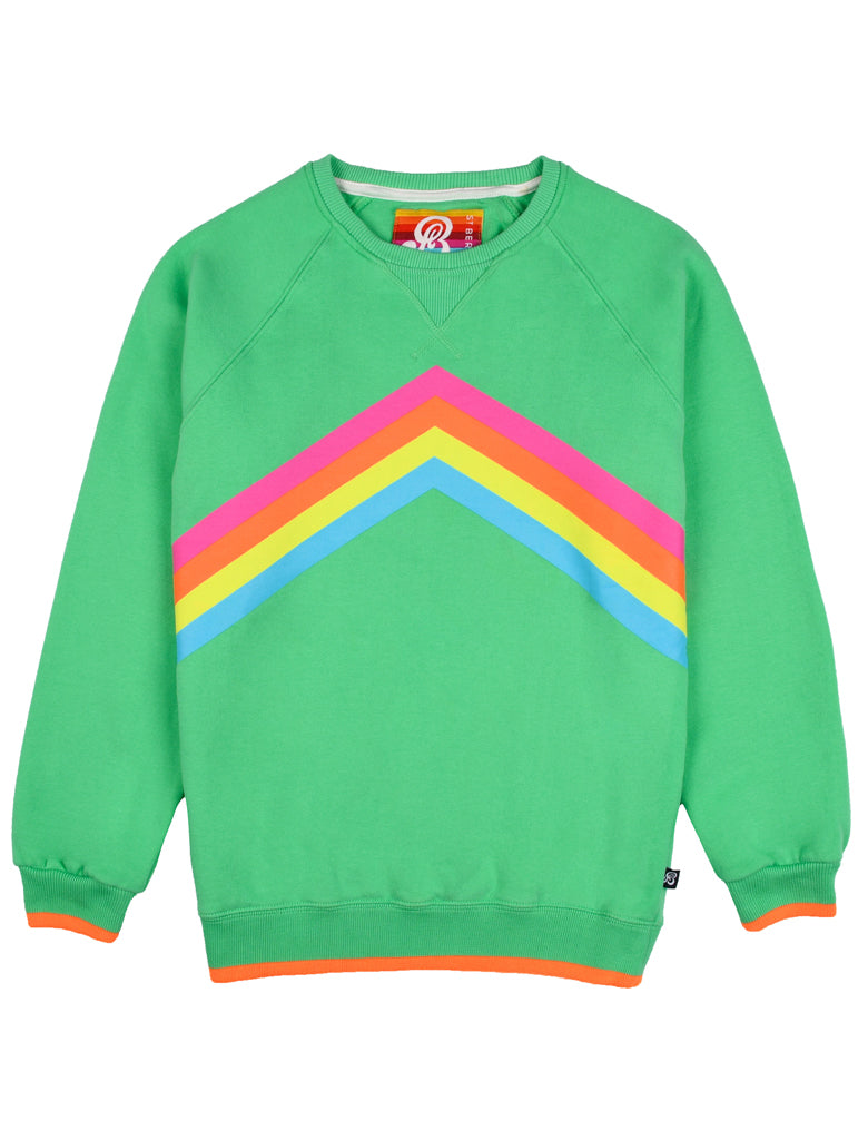 Kids Rainbow Sweatshirt Fresh Green