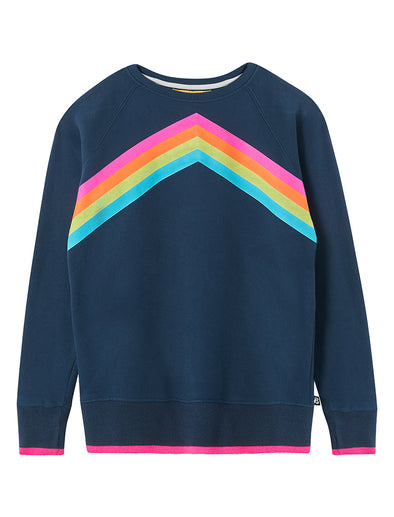 Rainbow Sweatshirt - Dress Blue