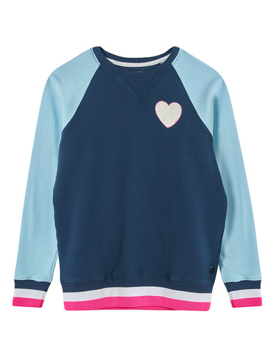 Heart Sweatshirt - Dress Blue