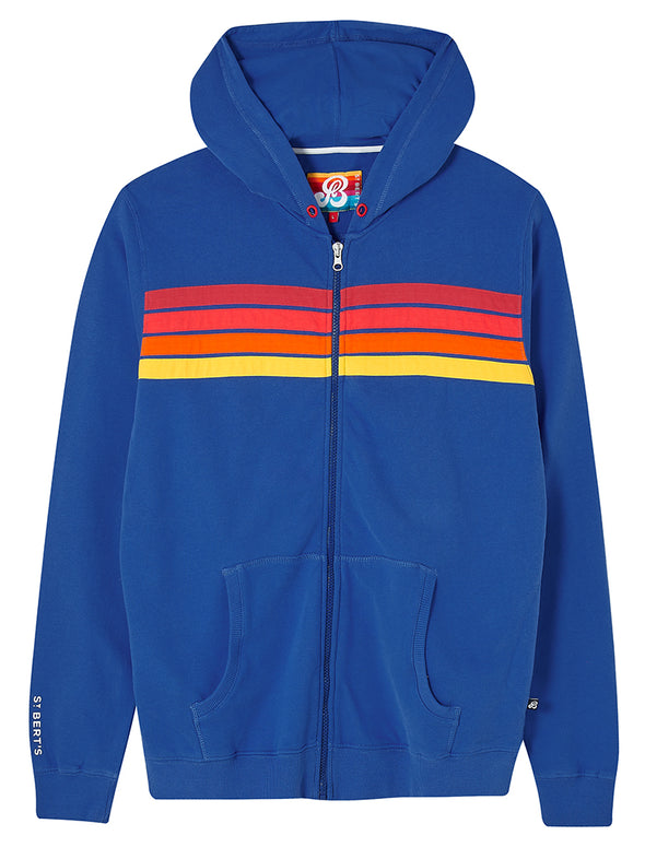 Men's Zip-Up Hoodie - Dazzling Blue