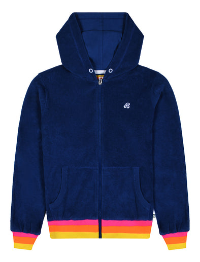 Zip-Up Terry Hoodie - Twilight Blue