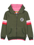 Zip-Up Hoodie - Khaki Green