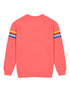Kids Chest Stripe Sweatshirt - Coral