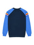 Kids Chest Stripe Sweatshirt - Dress Blue/Marina Blue