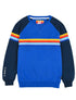 Kids Chest Stripe Sweatshirt - Dazzling Blue/Dress Blue