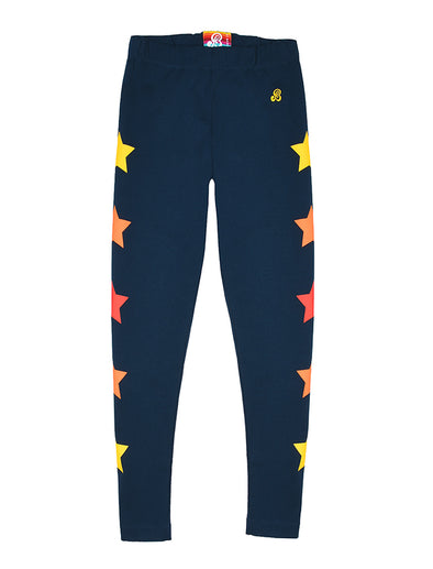 Star Leggings - Dress Blue