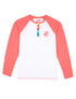 Henley - Optic White/Coral Pink
