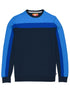 Men's Panel Sweatshirt - Dress Blue/Marina Blue