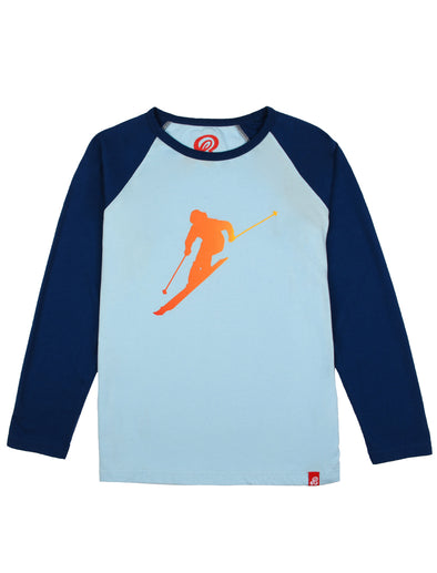 T-Shirt Lone Skier - Corydalis Blue/Twilight Blue