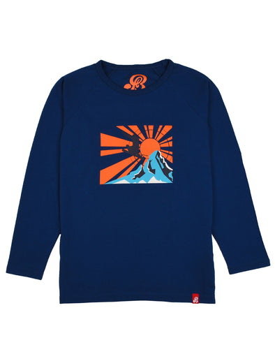 T-Shirt Sunset Skier - Twilight Blue