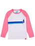 T-Shirt Side Stripe Ski - Optic White/Sachet Pink