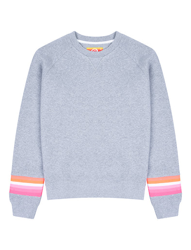Womens Reverse Stripe Sweatshirt - Nimbus Grey