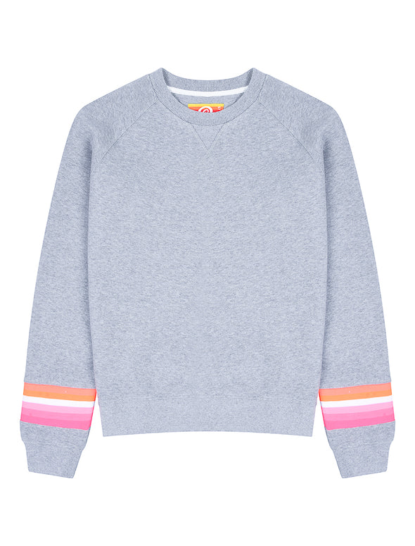 Women's Reverse Stripe Sweatshirt - Nimbus Grey