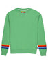 Women's Reverse Stripe Sweatshirt - Greengage