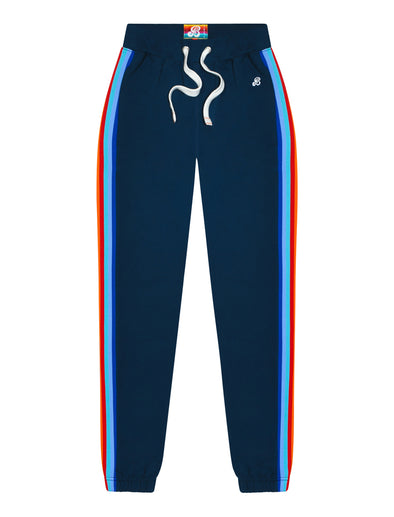 Womens Rainbow Sweatpants - Dress Blue